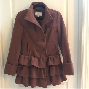 Xhilaration Ruffle Coat